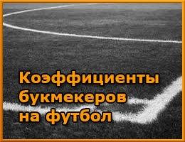 Коэффициенты букмекеров на футбол